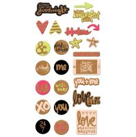 We R Memory Keepers Love Notes - Cork Stickers