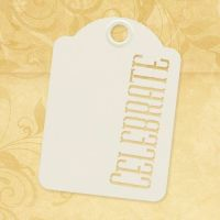 Graphic 45 Celebrate - ATC Ivory Tags