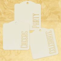 Graphic 45 Cheers, Party, Celebrate - Ivory Tags