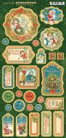 Graphic 45 Christmas Magic Chipboard