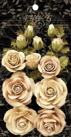 Graphic 45 Rose Bouquet Collection-Classic Ivory & Natural Linen