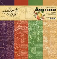 Graphic 45 Fruit & Flora Patterns & Solids Pad
