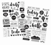 Simple Stories Carpe Diem Clear Stickers