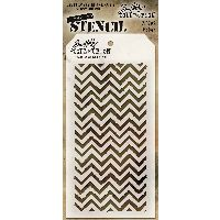 Stamper Anonymous ZigZag  Stencil - Layering Stencil