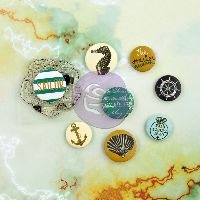 Prima Marketing Flair Buttons- Seashore
