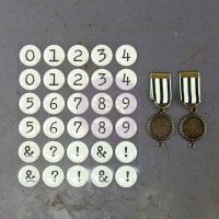 Prima Marketing Timeless Memories - Metal Trinkets - Recalled Numbers