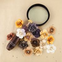 Prima Marketing Fragments  Mulberry Paper Roses - The Archivist