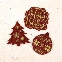 Prima Marketing Wood Foiled Embellishments - A Victorian Christmas