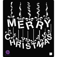 Prima Marketing Stencil A Victorian Christmas: Ornament Letters