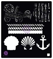 Prima Marketing 6x6 Stencil: French Riveria Anchor & Shell