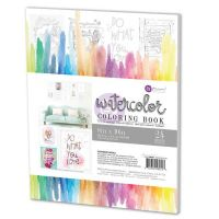 Prima Marketing 8x10 Watercolor Coloring Book