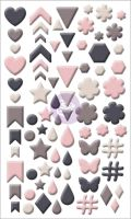 Prima Marketing Enamel Shapes - Rose Quartz