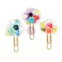Prima Marketing My Prima Planner Clips - Watercolor Florals