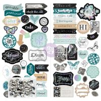 Prima Marketing Zella Teal - Chipboard