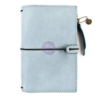 Prima Marketing Prima Traveler's Journal Leather Essential - Ice Blue