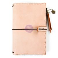 Prima Marketing Prima Traveler''s Journal Leather Essential - Peach