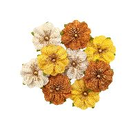 Prima Marketing Autumn Sunset Flowers - Haystack