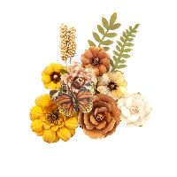 Prima Marketing Autumn Sunset Flowers - Pumpkin Pie