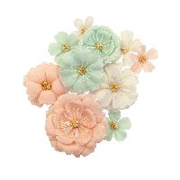 Prima Marketing Apricot Honey Flowers - Blush & Mint