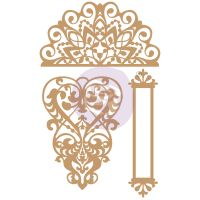Prima Marketing Laser Chipboard Diecut Shapes - Lace & Heart
