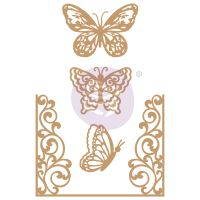 Prima Marketing Laser Chipboard Diecut Shapes - Butterfly Flight