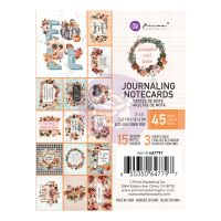 Prima Marketing Pumpkin & Spice Collection 3X4 Journaling Cards