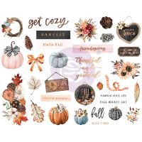 Prima Marketing Pumpkin & Spice Collection Chipboards