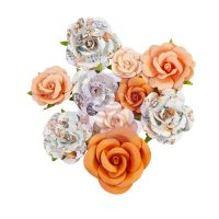 Prima Marketing Prima Flowers Pumpkin & Spice Collection - Orange Sunset