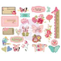 Prima Marketing Julie Nutting Butterfly Bliss Collection Chipboards
