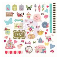 Prima Marketing Julie Nutting Butterfly Bliss Collection Ephemera
