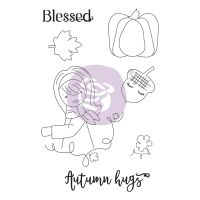 Prima Marketing Julie Nutting Doll Stamp - Autumn Hugs