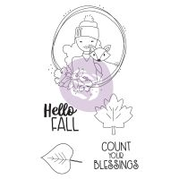 Prima Marketing Julie Nutting Doll Stamp - Hello Fall