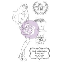 Prima Marketing Julie Nutting Doll Stamp - Jessi