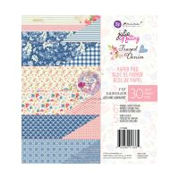 Prima Marketing Julie Nutting Frayed Denim Collection 6x6 Paper Pad