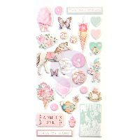 Prima Marketing Dulce Collection Puffy Stickers