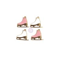 Prima Marketing Sugar Cookie Christmas Collection Metal Charms - Skates