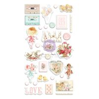 Prima Marketing Magic Love Collection Puffy Stickers