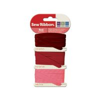 We R Memory Keepers Sew Ribbon - Ribbon Set - Red
