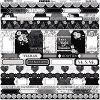Bo Bunny Black Tie Affair - 12x12 Combo Stickers