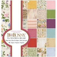 Bo Bunny Paper Pad - BB - Botanical Journal - 12 x 12 - 48 Sheets