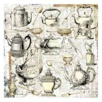 Prima Marketing 12X12 Paintable - Afternoon Tea (1 sheet)
