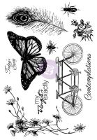 Prima Marketing 5x7 Cling Stamps-Nature