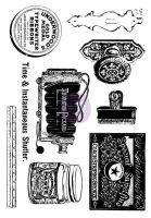 Prima Marketing 5x7 Cling Stamps-Curiosities
