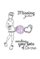 Prima Marketing Julie Nutting Doll Stamp - Lots Of Love Set 4