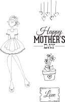 Prima Marketing Julie Nutting Doll Stamp - Mama''s Day 4x6 Cling Stamp Kit
