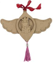 Prima Marketing Julie Nutting Joy Etched Wood Ornament - Mixed Media Doll