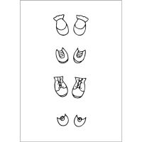 Prima Marketing Julie Nutting Doll Stamp Accessories - Baby Shoe Set  (2.5 x 3.5 Cling Stamp)