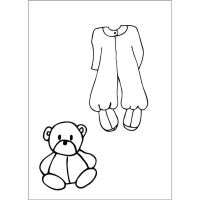 Prima Marketing Julie Nutting Doll Stamp Accessories - Baby Jammie  (2.5 x 3.5 Cling Stamp)