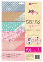 Prima Marketing Julie Nutting A4 Paper Pad Jan-Feb Patterns