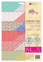 Prima Marketing Julie Nutting A4 Paper Pad Jul-Aug Patterns